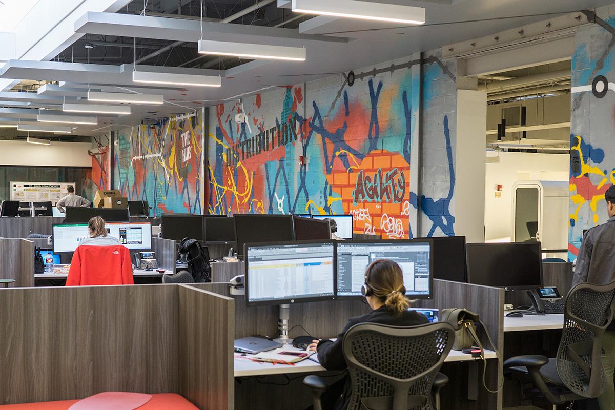 New Jersey office graffiti mural