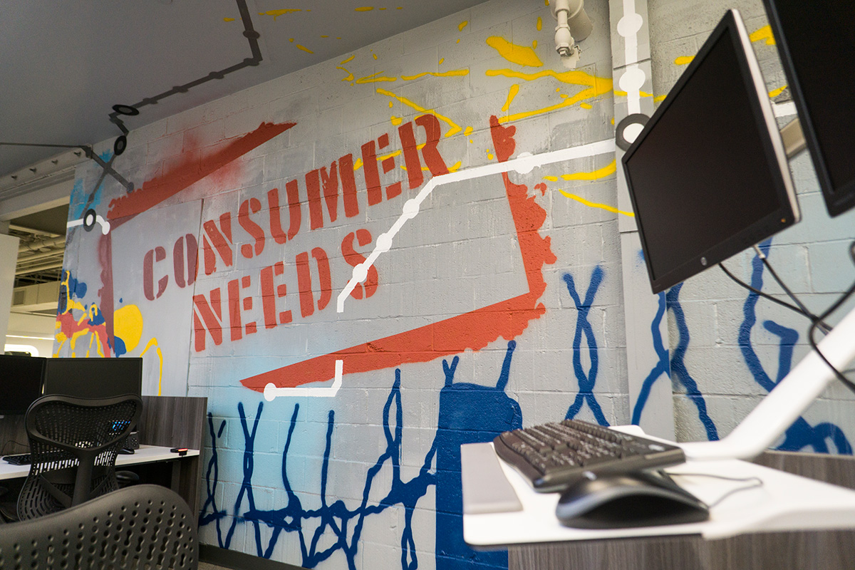 New Jersey office graffiti Consumer Needs