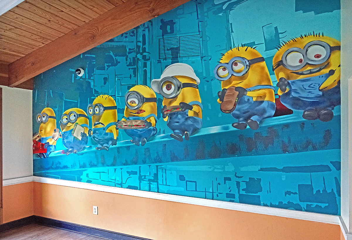 Minion Graffiti for Andrus School