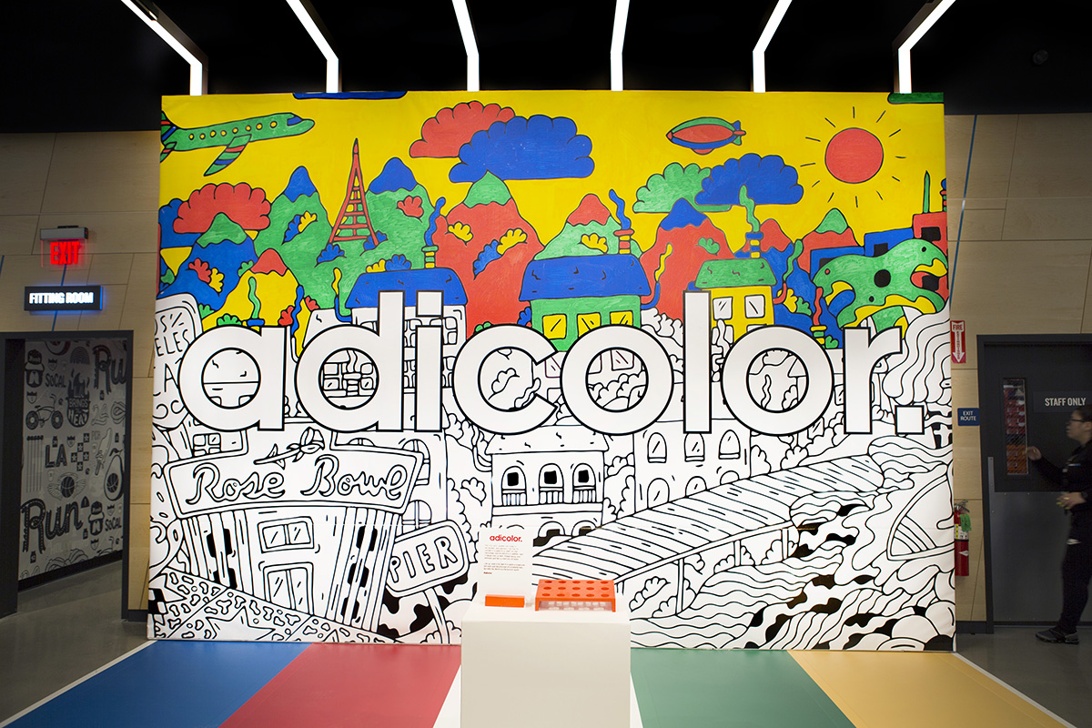 live murals for adidas    finish line collaboration