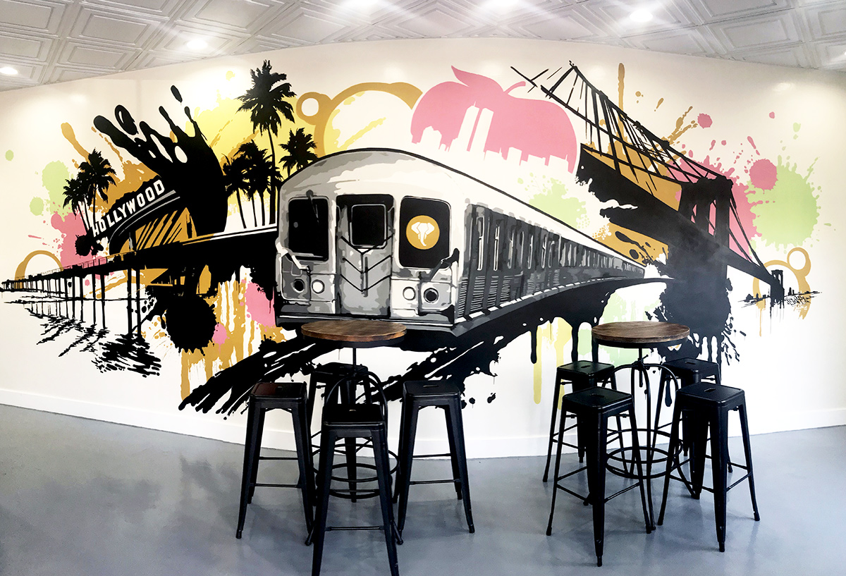 Orange County Mural Artist Paints Graffiti Wall