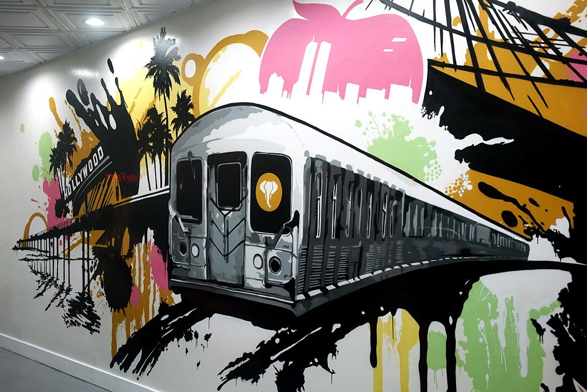 NYC Subway Graffiti Mural in Orange County