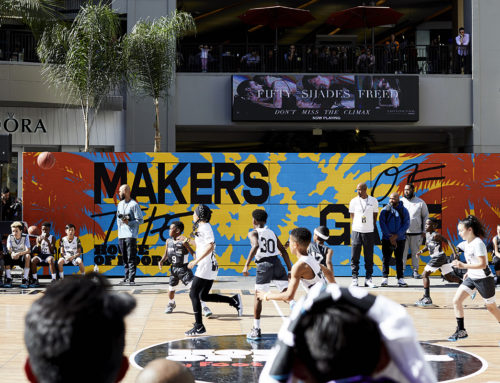 Basketball Court Mural – Nike & Footlocker at Hollywood & Highland