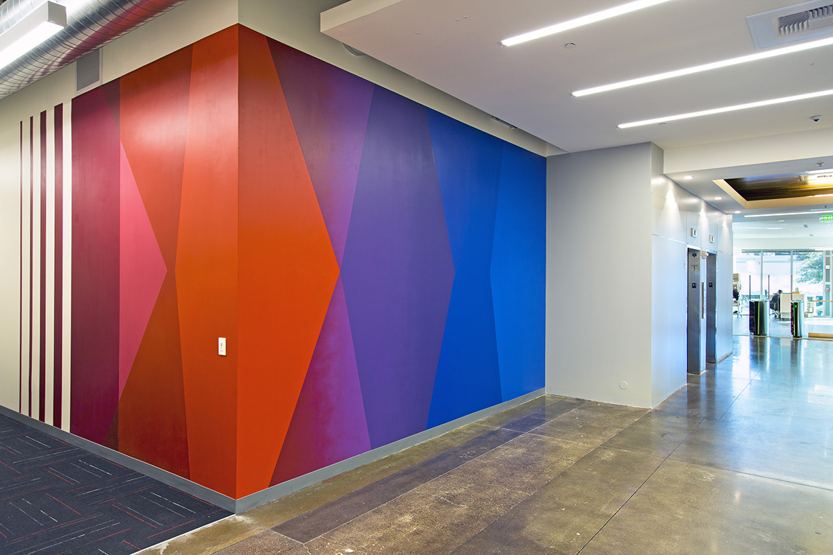 Colorful Office Mural Hallway
