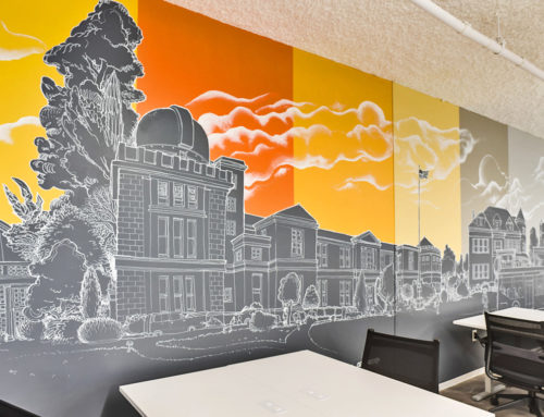 Chalk Style Murals at Make Offices in Washington DC