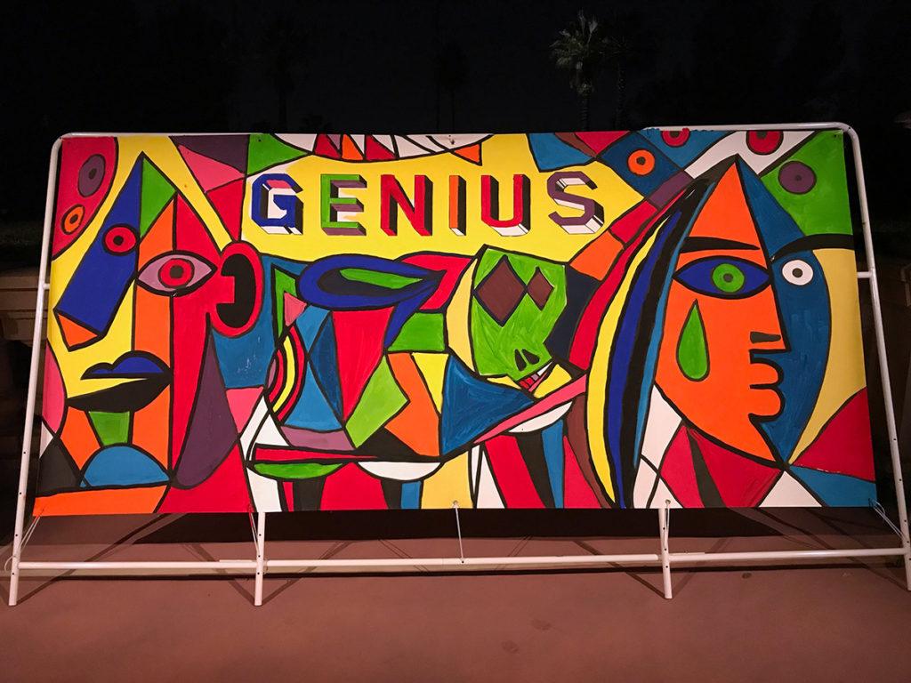 Picasso Street Art Mural