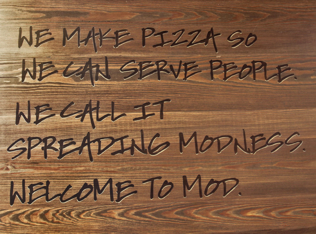 Mod Pizza Graffiti