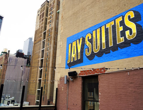 Exterior Patio Mural for Jay Suites in Midtown Manhattan, NYC