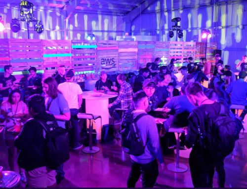 Neon Pallet Walls & Furniture for LA Hackathon – Amazon x Intel for EDC