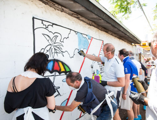 Miami Graffiti Workshop with AXA Travel Insurance in Wynwood
