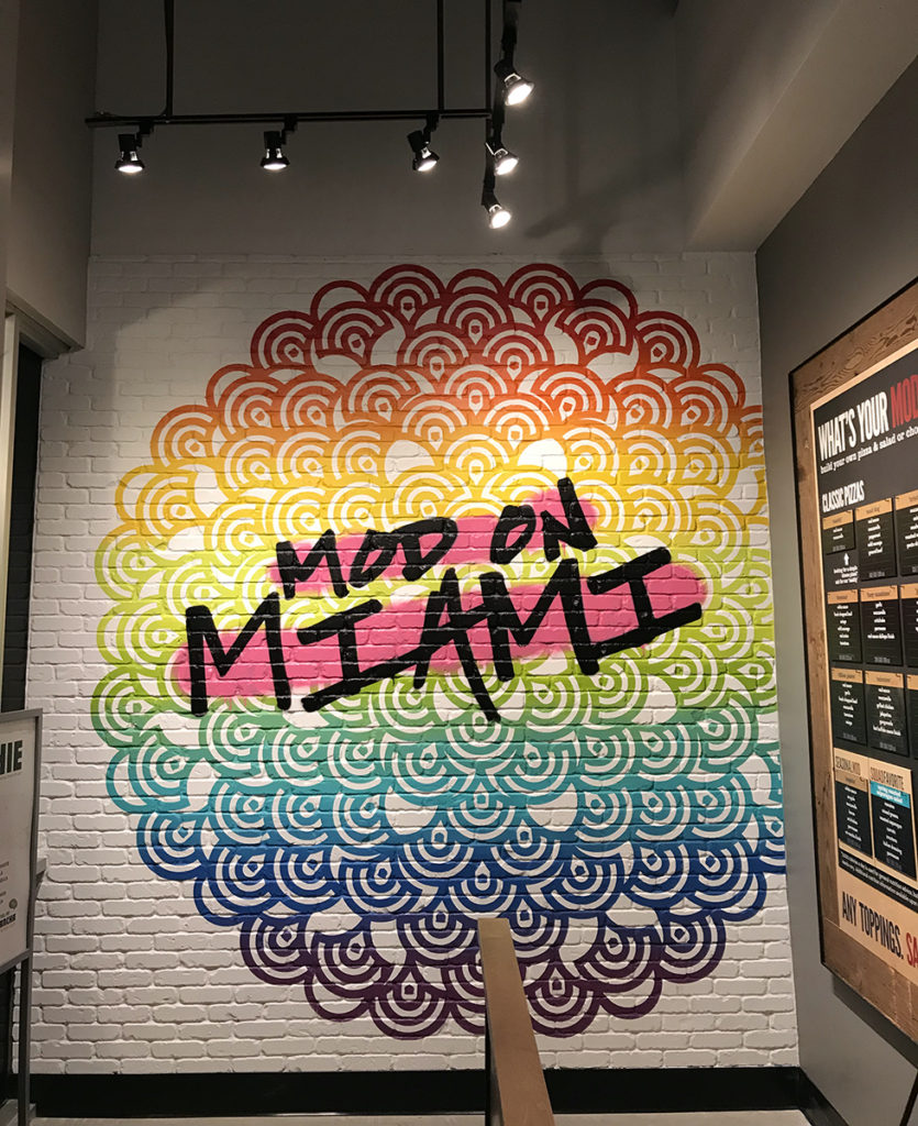 Mod Pizza Miami Street Art Mural