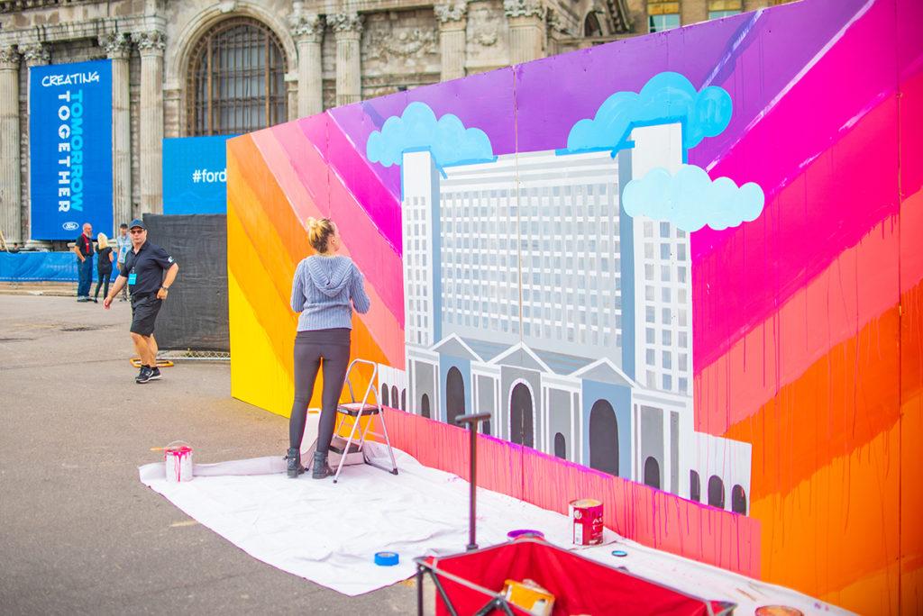 Live Mural Art Detroit