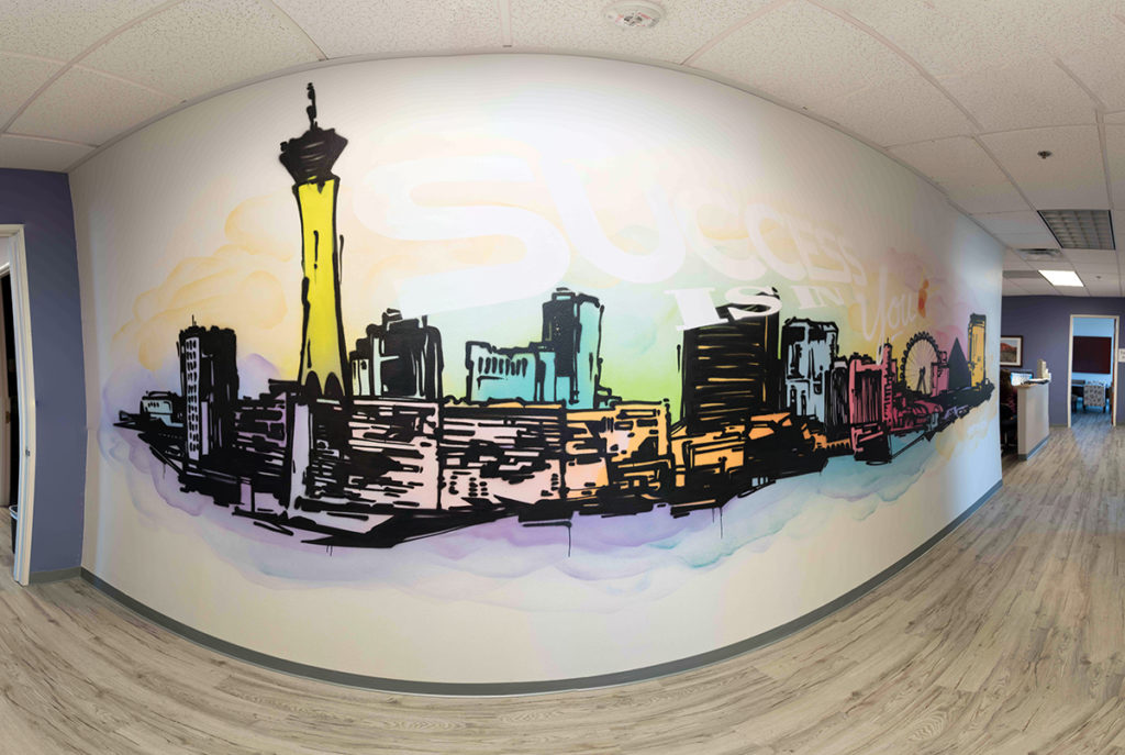 Las Vegas Skyline Mural