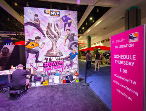 Gaming Conference Graffiti Mural for T Mobile at E3 in Los Angeles