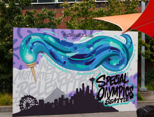Interactive Murals in Seattle for the Special Olympics 2018