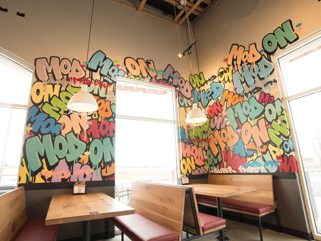 Graffiti Mural Mod Pizza