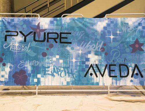 Live Graffiti Art for Aveda in St. Petersburg, Florida