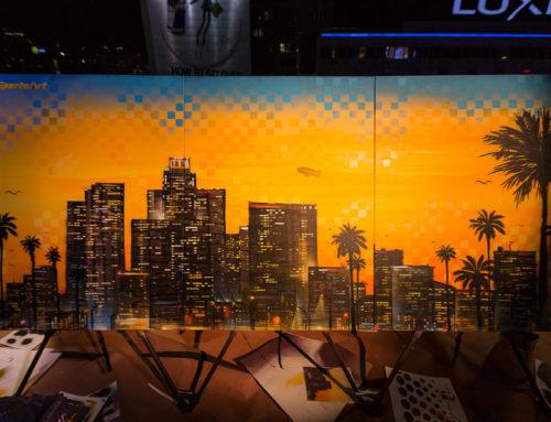 LA Live Mural Artist – SportsArt Canvas Live Art