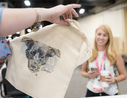 Live Tote Bag Customization for SuperZoo in Las Vegas, NV