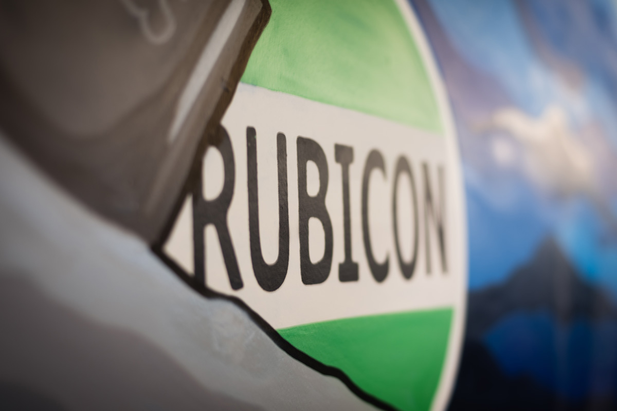 atlanta office mural rubicon waste solutions company