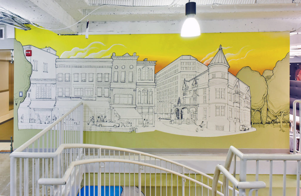 dc office mural make offices dupont square