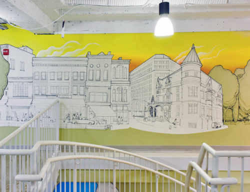 Two Story Oil-Bar Mural for Make Offices in D.C.