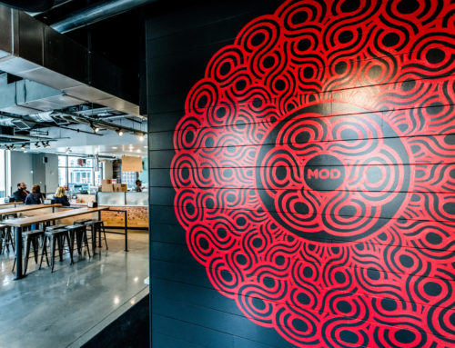 Mandala Mural for Mod Pizza in Riverdale Park, Maryland