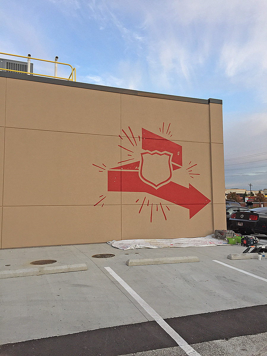 pizza company outdoor mural