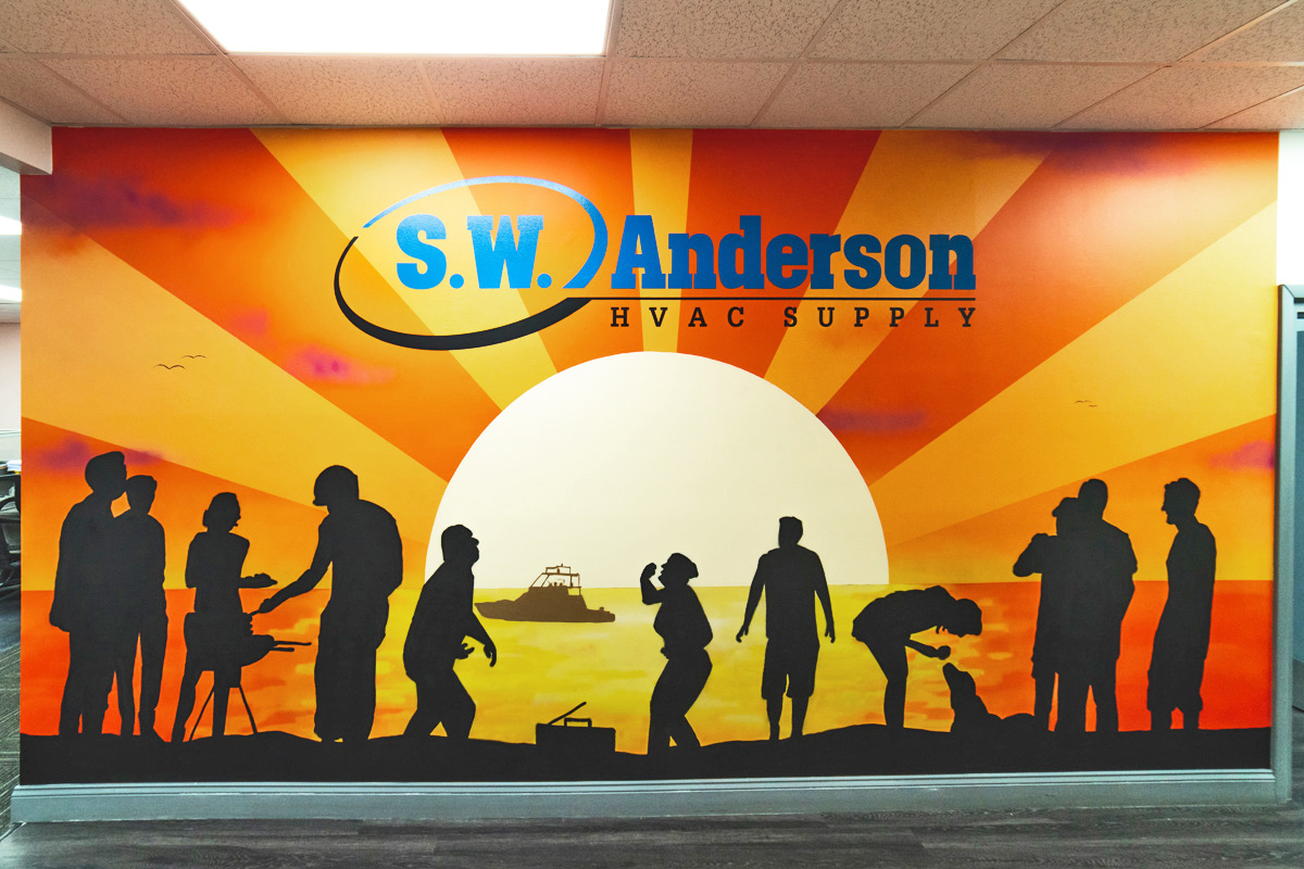 SW Anderson long island office mural