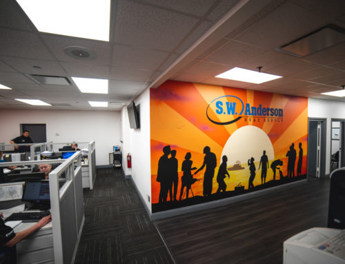 Spray Painted Office Mural for S.W. Anderson