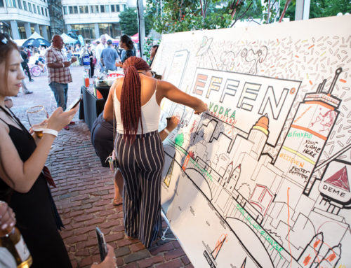 Interactive Coloring Mural in Boston with Effen Vodka