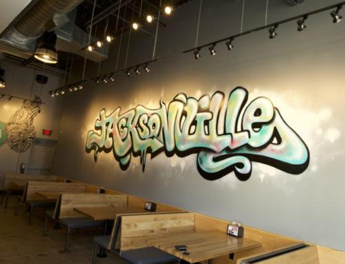 Jacksonville, FL Mural Company – Mod Pizza Graffiti