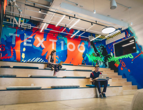 Office Mural for Text 100 Agency in NYC