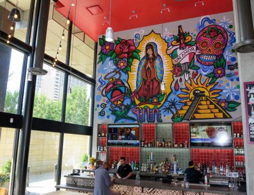 Mexican Restaurant Graffiti Art – Trompo Tacos , Dallas TX
