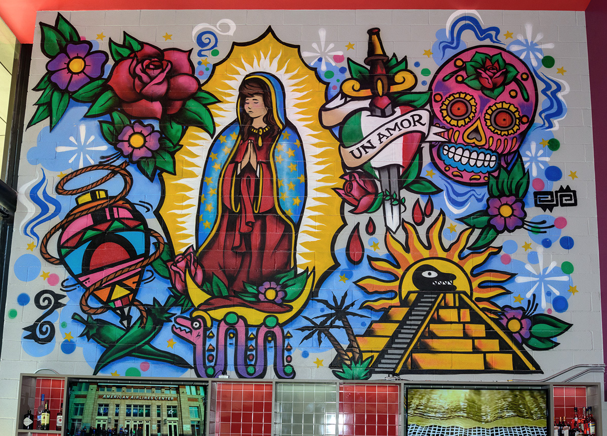 our lady of guadalupe mexican restaurant graffiti art