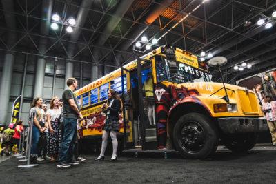 Custom Heathers School Bus Activation
