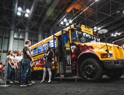 Custom Graffiti School Bus Activation at Comic Con