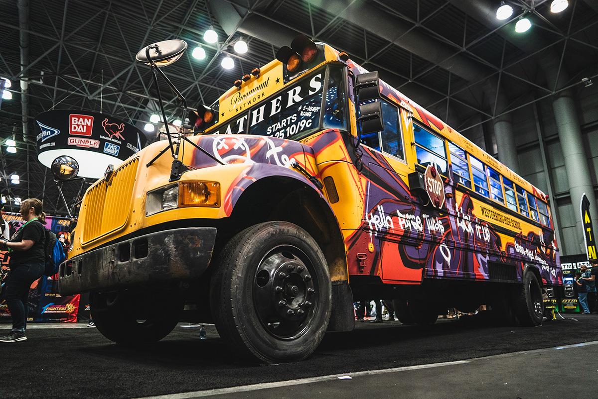 Custom Graffiti School Bus
