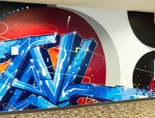 Abstract Graffiti Mural for Travelliance in Chicago, IL