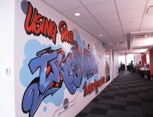 Adding an edgy graffiti visual for tech company True Motion