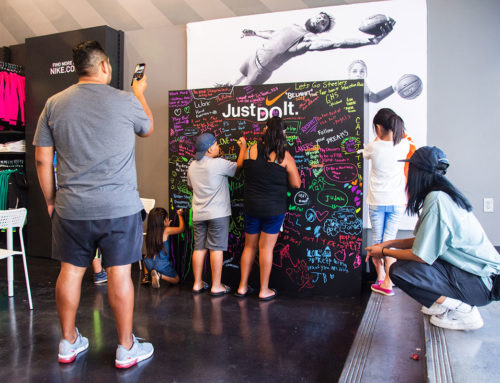 Custom Chalkboard Build for the Nike Store in East Los Angeles, CA