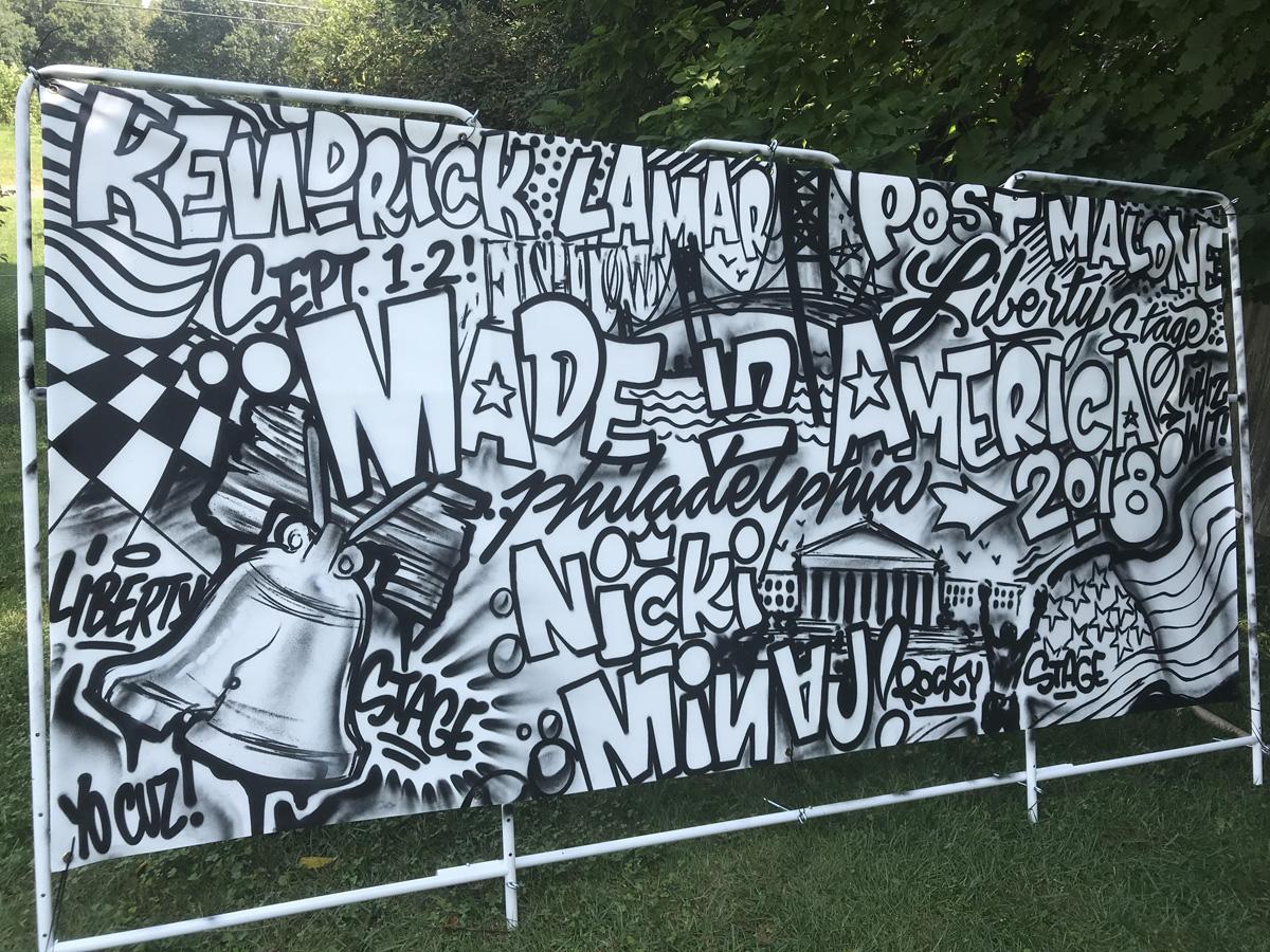 Philadelphia Interactive Coloring Mural Idea for Music