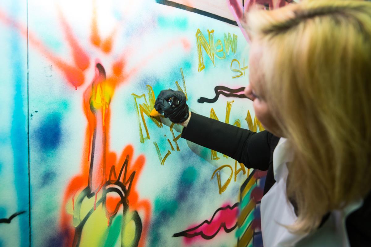 Street art workshop outdoor mural