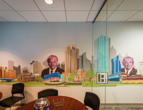 Graffiti Office Mural in Atlanta for B+L