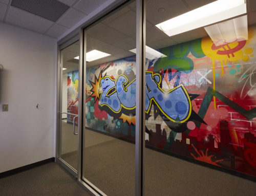 Bright Graffiti Mural for Zeke Capital's Office