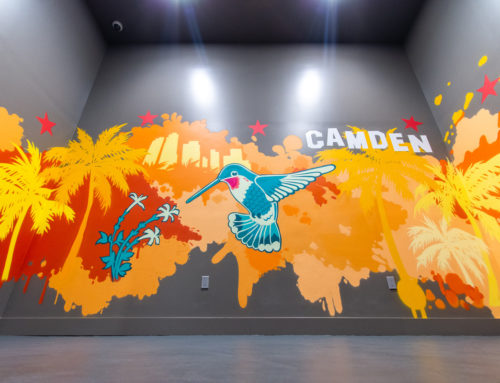 Residential street art mural for Camden Living