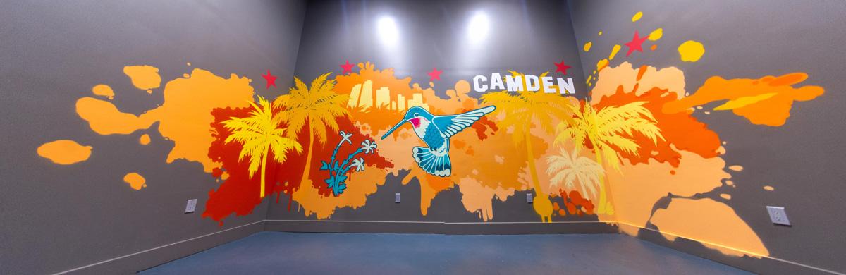 Residential street art mural