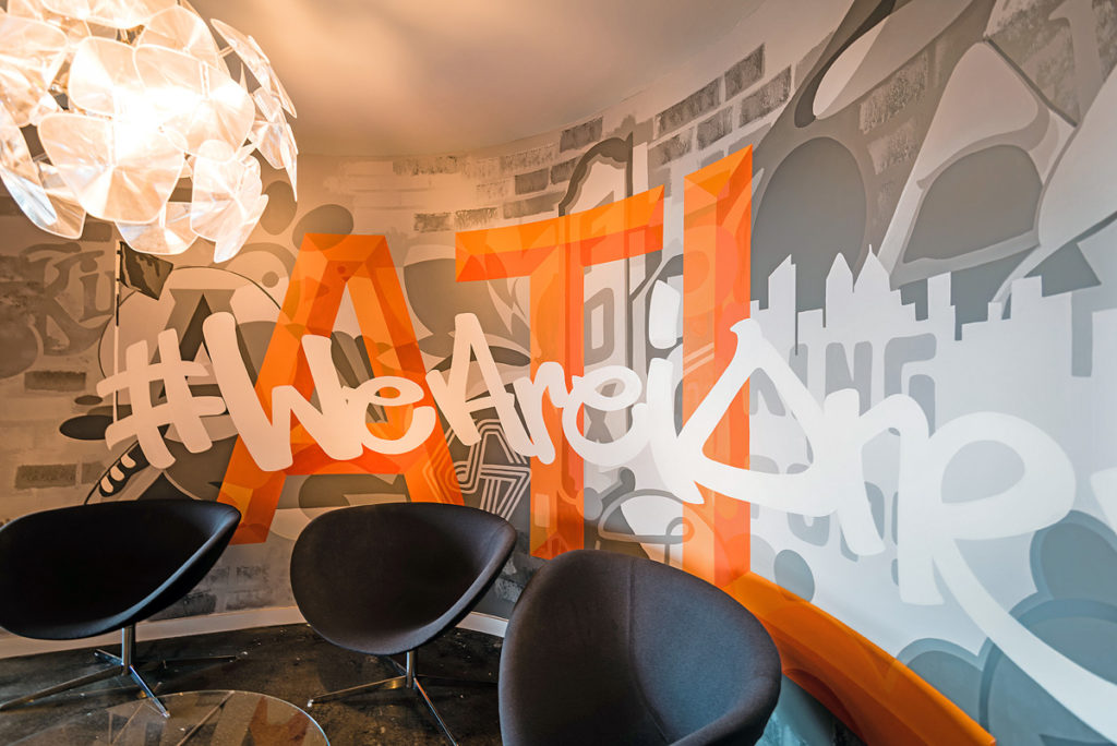 Atlanta Office Graffiti Mural