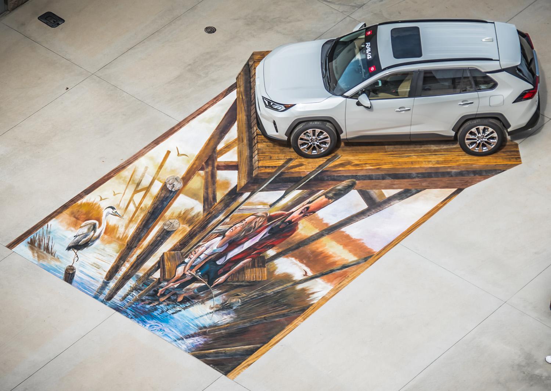 interactive chalk mural