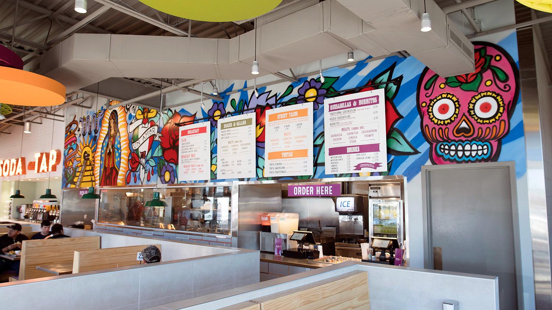 Dallas graffiti for restaurant